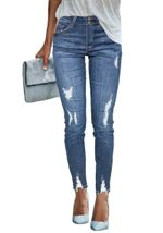 Slim  Ripped elastic skinny sexy Mid Waist push up jeans