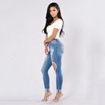 Vintage Straight  High Waist Casual Hole Ripped Jeans