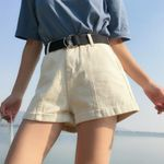 Beach Slim High Waist Denim Shorts