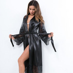 Lace V-Neck Long Sexy Erotic  Crotch Sleepwear