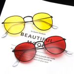 Alloy Frame Mirror Retro Round Sunglasses