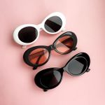 Rapper Oval Shades Retro Vintage Unisex Sunglasses