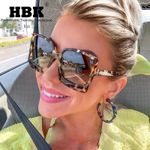 Vintage Big Frames Leopard Style Sexy Cat Eye Sunglasses