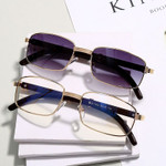 Luxury Metal Square Wood Fashion  Rectangle Sunglasses