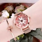 Magnetic Waterproof Wrist Luxury Rotating Watches