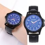 Unisex  Leather Belt Fashion Luxury Quartz Watch