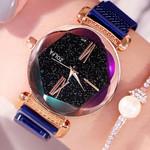Romantic Magnetic Buckle  Dial Starry Sky Quartz Wrist watch