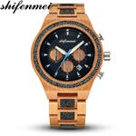 Wrist Antique Vintage Fashion Glitter Wooden Watch