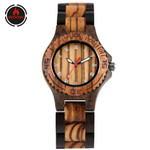 Business Classic Ebony  Bangle Wrist Wood Watch