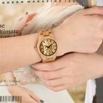 Couple Quartz Natural  Small Dials Wood Watch