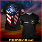 Hihi Store hoodie S / T Shirt US Army Personalized Name ALL OVER PRINTED SHIRTS 001