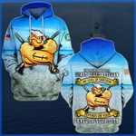 Hihi Store hoodie S / Hoodie I'm a grumpy old Coast Guard Veteran All Over Printed Shirts 052305