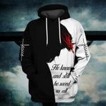Hihi Store hoodie S / Hoodie Jesus He knew and still he saved us all ALL OVER PRINTD SHIRTS