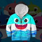 Hihi Store hoodie Toddler 2T / Zip Hoodie Nephew Shark All Over Printed Shirts
