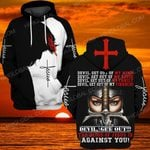 Hihi Store hoodie S / Hoodie Devil get out the blood of Jesus is against you  ALL OVER PRINTED SHIRTS