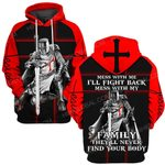 Hihi Store hoodie S / Hoodie Jesus God Christmas Gifts Mess with me I'll fight back mess with my Family they'll never find your body ALL OVER PRINTED SHIRTS