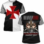 Hihi Store hoodie S / T Shirt Jesus God Devil Get out the blood of Jesus is against you  ALL OVER PRINTED SHIRTS