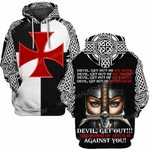 Hihi Store hoodie S / Hoodie Jesus God Devil Get out the blood of Jesus is against you  ALL OVER PRINTED SHIRTS