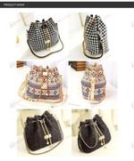 zVenus Store bag Houndstooth Bohemia Bucket Bag