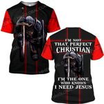 Hihi Store hoodie S / T Shirt Jesus God I am not that perfect christian ALL OVER PRINTED SHIRTS