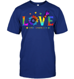 GearLaunch Apparel Unisex Short Sleeve Classic Tee / Deep Royal / S M022819 hippie love one another