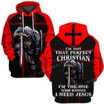 Hihi Store hoodie S / Hoodie Jesus God I am not that perfect christian ALL OVER PRINTED SHIRTS