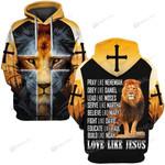 Hihi Store hoodie S / Hoodie Jesus God Love like Jesus  ALL OVER PRINTED SHIRTS