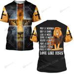 Hihi Store hoodie S / T Shirt Jesus God Love like Jesus  ALL OVER PRINTED SHIRTS