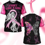 Hihi Store hoodie S / T Shirt Breast Cancer Awareness Fight Like a Girl 081204