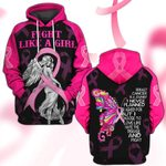 Hihi Store hoodie S / Hoodie Breast Cancer Awareness Fight Like a Girl 081204