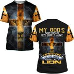 Hihi Store hoodie S / T Shirt My God's not dead, he's surely alive 082904
