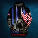 Hihi Store hoodie S / Hoodie Us Veteran 0911 Never Forget All Over Printed Shirts 080701