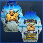 Hihi Store hoodie S / Hoodie Forever the title Grumpy Old Coast Guard Veteran All Over Printed Shirts 052304