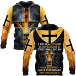 Hihi Store hoodie S / Hoodie Jesus God I believe in God because I have experienced  ALL OVER PRINTED SHIRTS
