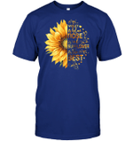 GearLaunch Apparel Unisex Short Sleeve Classic Tee / Deep Royal / S M030219  Hippie  Violet is blue