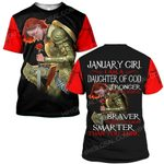 Hihi Store hoodie S / T Shirt Jesus God January girl I am a daughter of God stronger than you believe ALL OVER PRINTED SHIRTS
