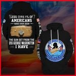 Hihi Store hoodie S / Hoodie US Navy USS George Washington (CVN 73) All Over Printed Shirts 052204