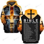 Hihi Store hoodie S / Hoodie Jesus Bible Emergency Numbers ALL OVER PRINTD SHIRTS