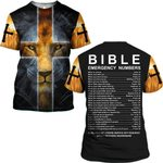 Hihi Store hoodie S / T Shirt Jesus Bible Emergency Numbers ALL OVER PRINTD SHIRTS