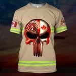 Hihi Store hoodie S / T Shirt Canadian Firefighter All Over Printed Shirts 030702