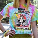Hihi Store hoodie S / T Shirt Hippie October Woman The soul of a Mermaid All Over Printed Shirts 061710