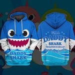 Hihi Store hoodie XS / Hoodie Daddy Shark All Over Printed Shirts