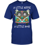 GearLaunch Apparel Unisex Short Sleeve Classic Tee / Deep Royal / S M120818 Hippie  a little hippie a little hood
