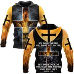 Hihi Store hoodie S / Hoodie Jesus God My soul need the way the truth and the life  ALL OVER PRINTED SHIRTS