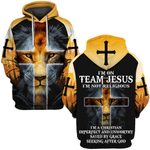 Hihi Store hoodie S / Hoodie I am on team Jesus I am not religiour 083001