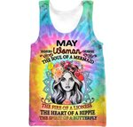 Hihi Store hoodie XXS / Tank Top Hippie May Woman The soul of a Mermaid All Over Printed Shirts 061705