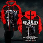 Hihi Store hoodie S / Hoodie / Red I am on team Jesus not religious  ALL OVER PRINTED SHIRTS 082903