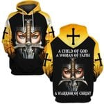 Hihi Store hoodie S / Hoodie Faith Hope Love a Warrior of Christ 090303
