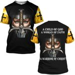 Hihi Store hoodie S / T Shirt Faith Hope Love a Warrior of Christ 090303