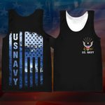 Hihi Store hoodie XXS / Tank Top Us Navy All Over Printed Shirts 061108